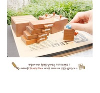 2012 new Restore ancient ways drawer style woody decorate stamp free shipping (foursquare style )