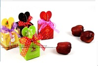 Chiristmas gift box , birthday gift box for kids  DIY handmade box 8 *8 *10  cm    20pcs/lot