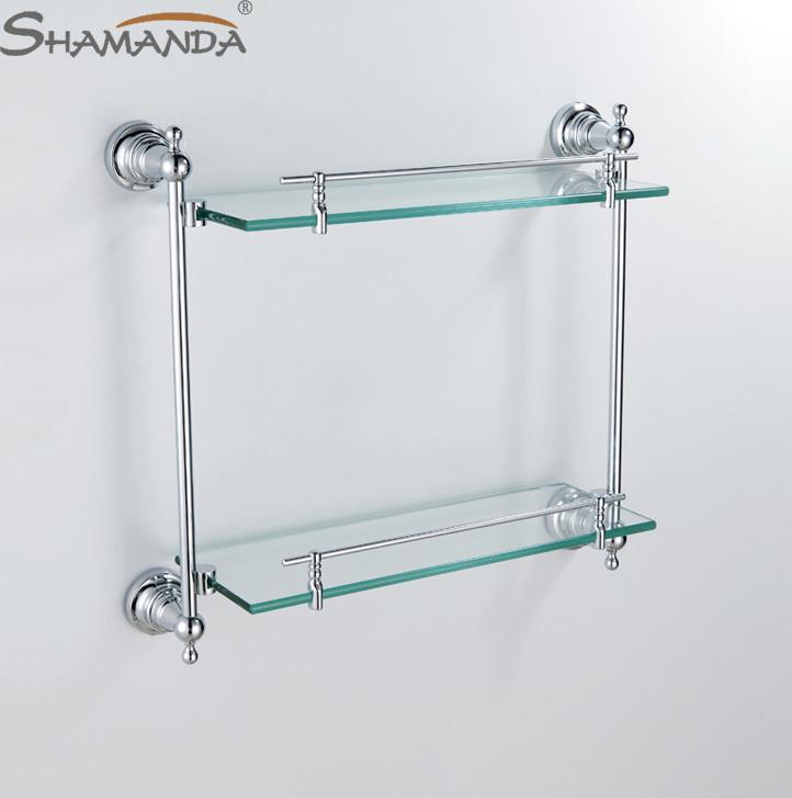 chrome and glass bathroom shelves | My Web Value