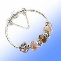Медицинский бандаж Silver sweet love charm bracelet