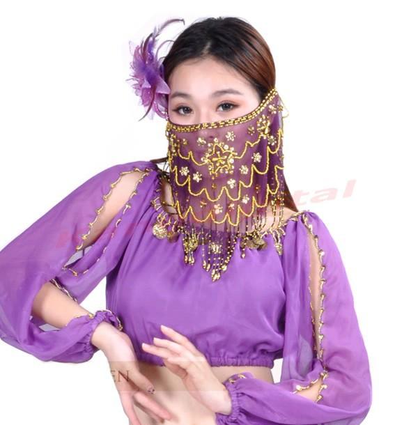 Лица вуаль voile шарф обруча блесток