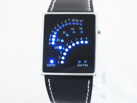 Наручные часы Dropship! HK post! 2012 high quality Blue Light LED Digital Quartz Mens Strap Wrist Watches