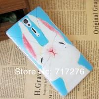 Чехол для для мобильных телефонов Cute Rabbit & Deer Colored Drawing hard plastic Case For Sony Xperia S LT26i