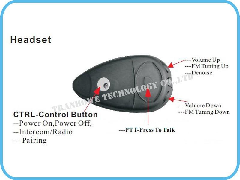 Free Shipping!!2pcs 1500m Motorcycle Helmet Intercom Interphone Headsets Talk FM 4 CH Wireless PTT