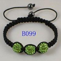 Браслет из бисера Fashion Jewelry 3pcs Rope Handmade Friendship Romantic 3 Disco Crystal Balls Shamballa Bracelet B98-107