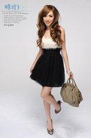 новый женский мода без рукавов кружева U-образным вырезом блестками платья швом юбки e10081116