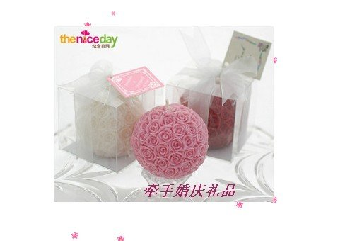 wholesale freeshipping wedding souvenirs rose candle