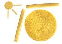 Аксессуары для купания 2012 Hot! Line - Round High quality Seaweed Facial Cleaning face Sponge & Yellow
