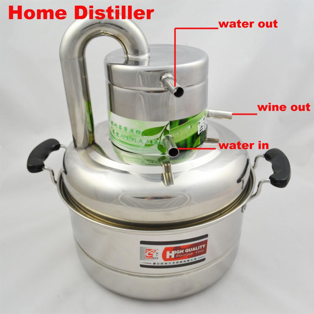 Home Water Distilling Supplies ~ Liters alcohol wine distiller whisky vodka maker home