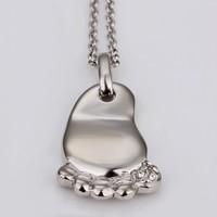 набор популярных милый след ювелирных изделий 18 k женщин сплава ожерелье серьги набор