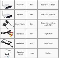 Противопожарные и Охранные товары 1PCS wireless 2.4G AV Transmitter&receiver with IR remote extender up to 150m supported