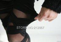 Женские носки и Колготки New Women Ripped Sexy Stretch Vintage Legging Pants Black Size Fits All