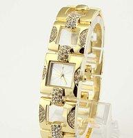 Наручные часы diamond name silver/gold color modern women brand decorative watch