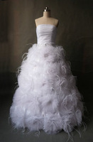 Youthful and Exuberant Design Ball Gown Tulle Lace Corset Wedding Dresses Strapless