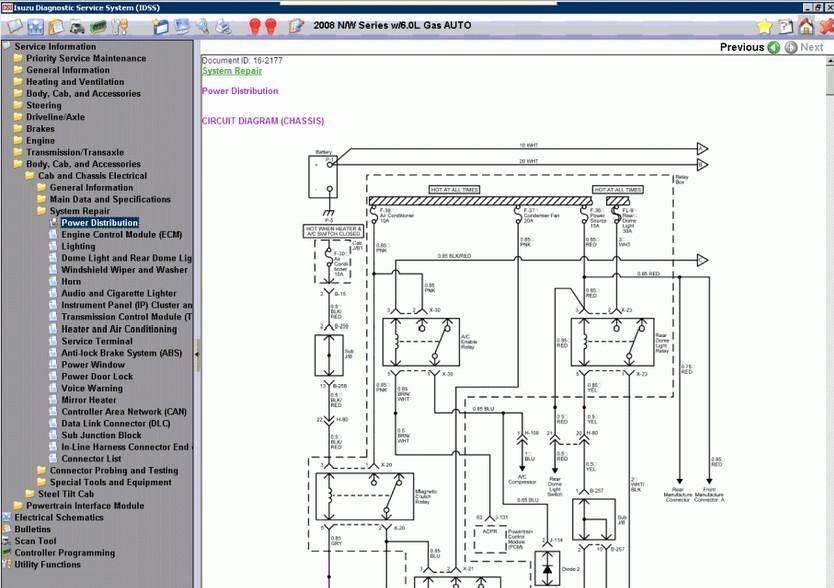 isuzu nqr wiring diagram isuzu pickup wiring diagram