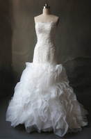 Свадебное платье Best Selling Ivory Taffeta Popular Design Ball Gown Bridal Wedding Dress 2013