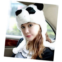Шапка для мальчиков New Cute Panda Fluffy Plush Warmer Soft Hat Cap Beanie[040114