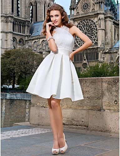 Белые платья до колен