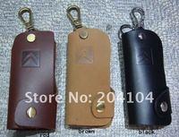 free shipping ! gift ! CITREN universal leather car key chain  key case key holder key cover