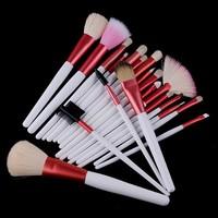 Кисти для макияжа 20 pcs Makeup Brush Kit Makeup Brushes +PinkLeather Case