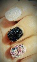 Новый Икра черная жемчужина ногтей маникюр ограниченное издание hb978b