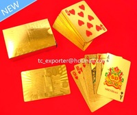 500 Euro 24K gold foil playing card 100% cover