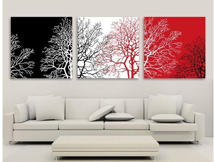 Cuadros abstractos en blanco negro y rojo imagui - Cuadros modernos blanco y negro ...