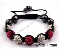 Браслет из бисера HIGH QUALITY SHAMBALLA 9 CRYSTAL CLAY DISCO BALL FRIENDSHIP Topaz and clear gray BEADED BRACELETS