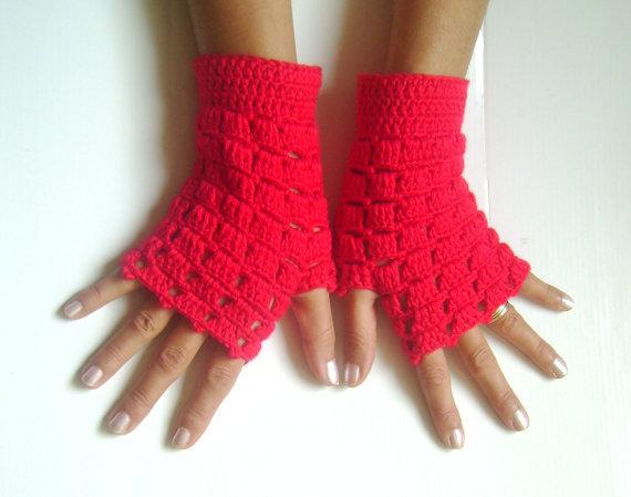 Patron De Guantes Sin Dedos en Crochet - Imagui