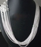 Колье-цепь 10pcs 925 sterling Silver 1mm Rolo Chain 18 inch, 925 sterling silver chain necklace C5