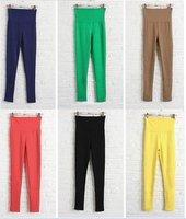 Женские брюки LJ-079 2012 New Modern Women Cotton Fake Jeans High waistline Thin Pencil Leggings/Pants 9 Colors