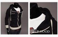 Товары на заказ 2011 New Mens Double Zipper Jumper Hoodie Jacket 4Colors