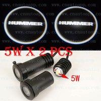 HUMMER  LOGO Car LED Emblem  Welcome Light Door Step Ground Projecting Lamp  For H3 / H2 / H1 etc