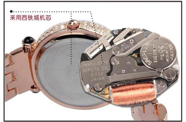Мелисса дамы наручные часы кварцевых часов Лучший моды платье Браслет Марка нержавеющей стали Часы Роскошные Стразы блеск кубического циркония