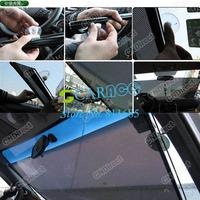 Защита от солнца для боковых стекол авто 5pcs/lot Rectangle Car Front Window Sun shade Windshield Retractable Sunshade Shield Visor Black 4421