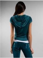 Женские толстовки и Кофты 1set /lot women's velvet sported tracksuit, women's velour tracksuit hooded sweater+pant size:S-XL, #JC007