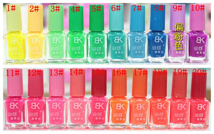 Цветной лак для ногтей