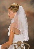 2t white or Ivory Wedding Bridal elbow Satin Edge Veil with comb