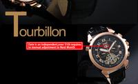 SG post or HK post  New! Men's Elegant Man Automatic Mechanical Date Tourbillon Mens Dress Wrist Watch