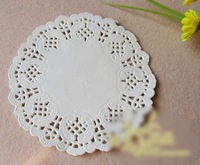 10.5inch (26.7cm) White round paper pad lace doilies/placemat Wedding tableware decorations Colored doilies paper pad