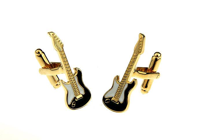 The Gold plated Guitar Designer Cufflinks Novelty Men Shirt Cufflink   jewelry Gift 170973
