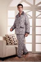 Free Shipping sleepwear fashion coral fleece cotton-padded thickening lounge set 9860 Sleep & Lounge