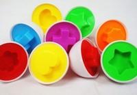 Детские Развивающие игрушки соответствующие игрушки, Смешные Детские головоломки яйца научиться определять цвета фигур нетоксичного пластика