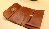 Кошелек 2013 new fashion woman brief vintage medium-long motorcycle pu leather wallet