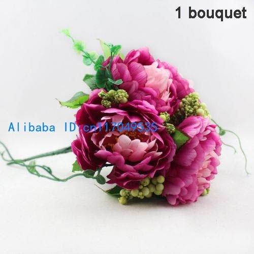 1 шелк букетов Peony PCS красивейший искусственний цветет домашние цветы...