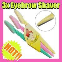 Триммер для бровей 3pcs/Set Travel Eyebrow Shaver shaping Beautiful Eyebrows Tool 5Set C101
