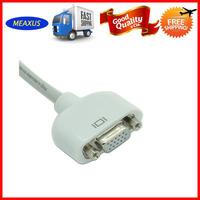 5pcs/lot Free shipping  Mini DVI to VGA Monitor Adapter Video Cable for Apple Macbook iMac