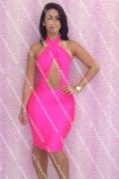 Женское платье Bandage Dress FEELINGIRL Bodycon Cusual 5588