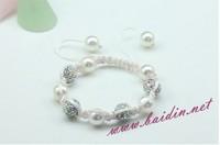 Free shipping New arrival Shamballa Jewelry Micro Pave Ball Bead bracelet wholeasle 12 pcs/lot