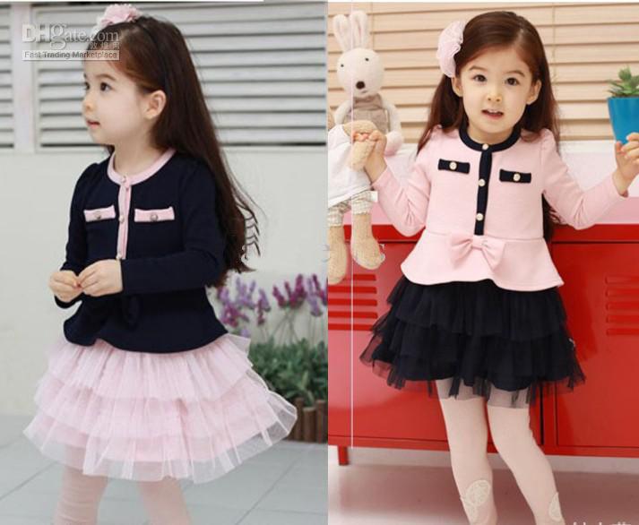 Платья для девочек с длинным рукавом фото